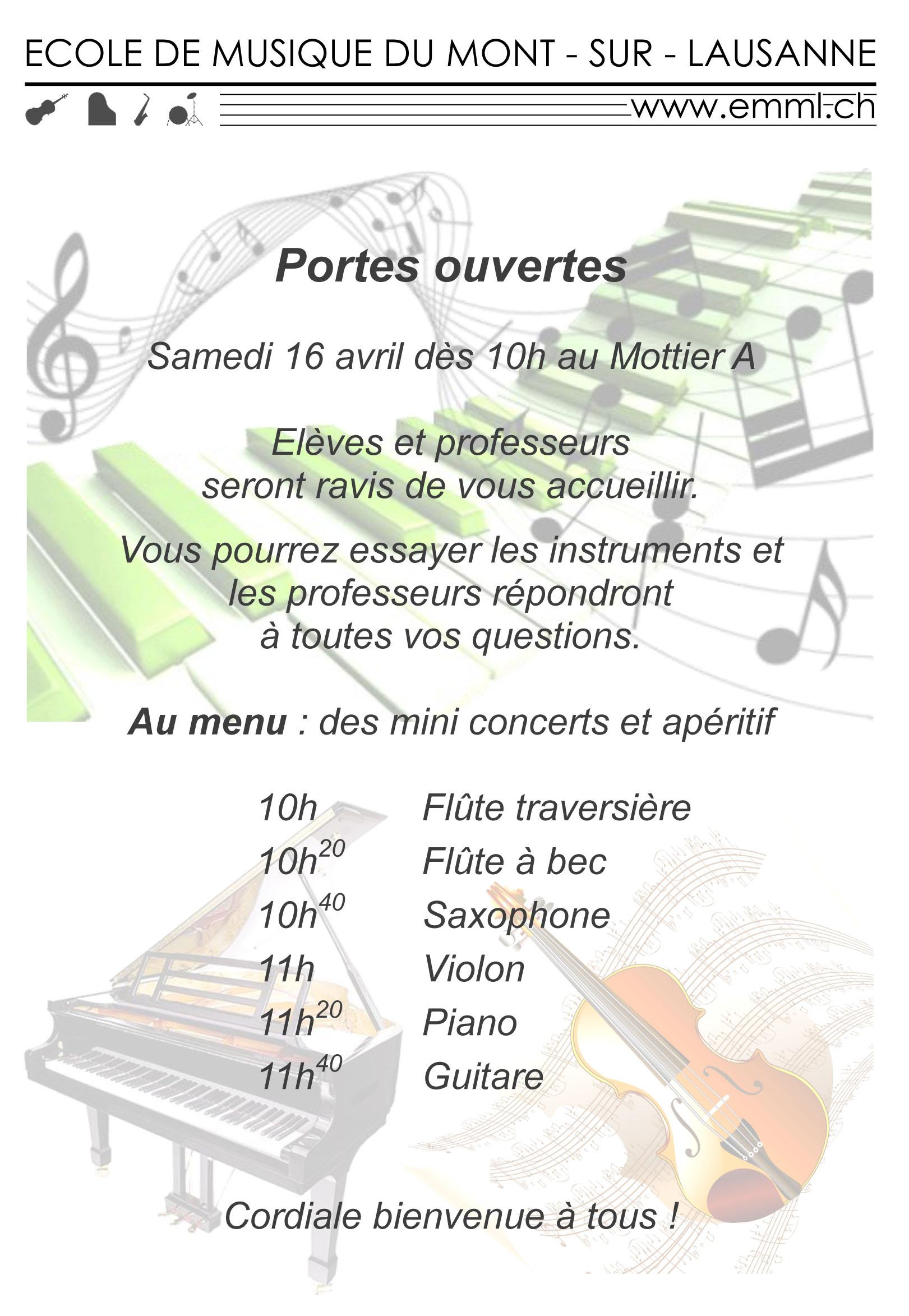 Flyers Ecole de Musique mars 16